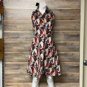 Voodoo Vixen Retro Paisley Dress NWT